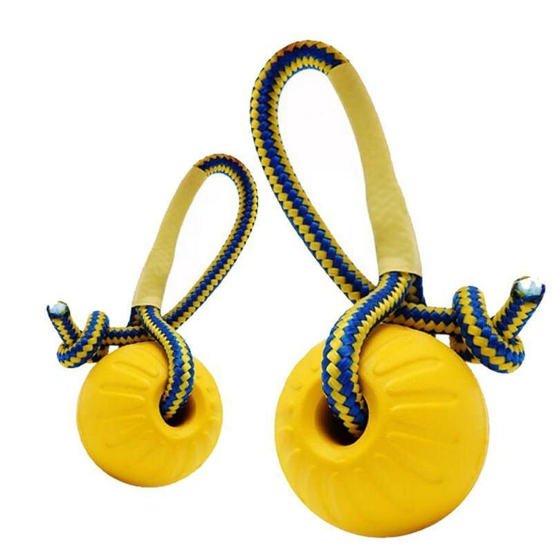 Dog Toy Training Ball Rubber Balls Chew Play with Rope