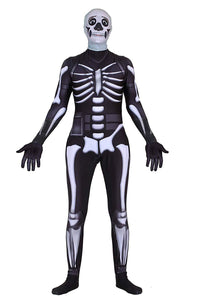 Fortnite Halloween Spandex Cosplay Costume Skull Trooper Costume Bodysuit