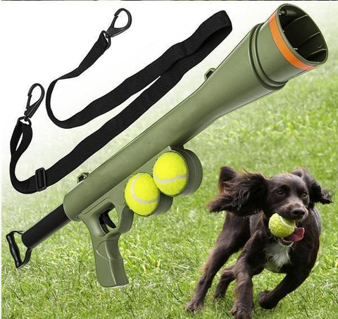 Dog Pet Training Gun Toy Ball Launcher