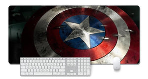 Captain America Shield Extended Mouse Pad Computer Desk Pad Mat