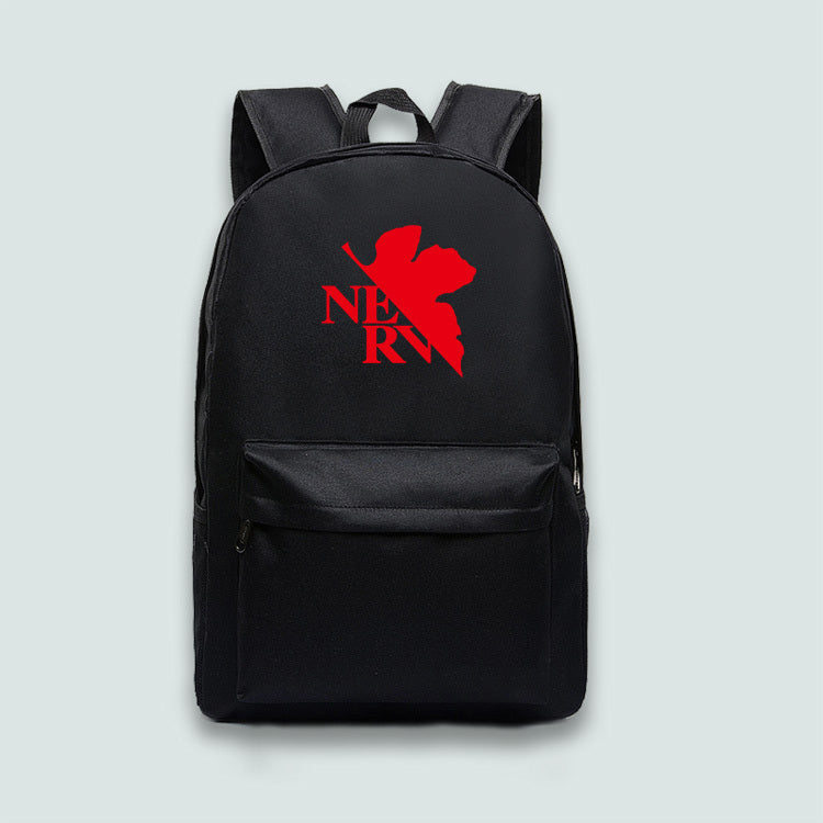 Evangelion Theme Backpack Schoolbag Daypack Bookbag Red Leaf Bag