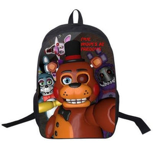 Five Nights At Freddy's Freddy Bear Backpack Schoolbag Printed Daypack For Kids