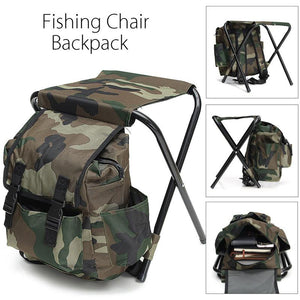 Camouflage Foldable Fishing Chair Backpack