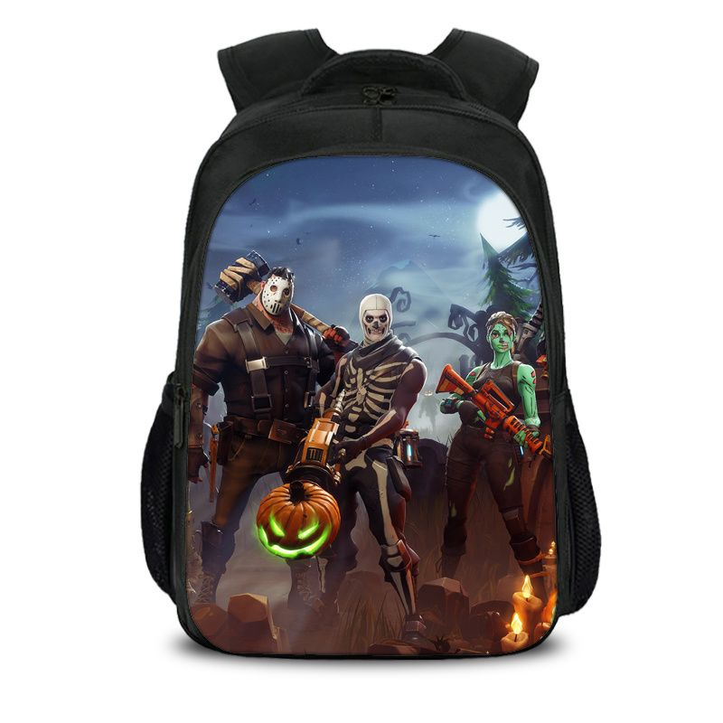 Fortnite Battle Royale ALL Character Zombie Skin Pattern Backpack Schoolbag Bag