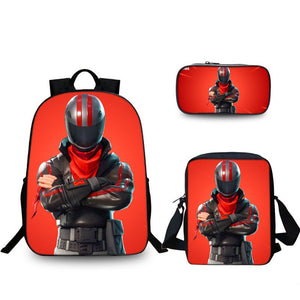 Fortnite Battle Royale Burnout Backpack Pencil Case Shoulder Bags Back to School Set 3 In 1
