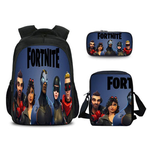 Fortnite Battle Royale Character Avatar Pattern Backpack Pencil Case And Shoulder Bags Back to School Set 3 In 1