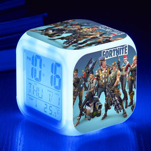 Fortnite Characters Alarm Clock with LED 7 Colors Light