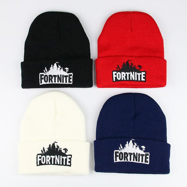 Fortnite Embroidered Wool Hat Warm Keep Knit Hat
