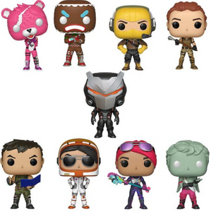 9x Fortnite Collection Funko Pop Figurines