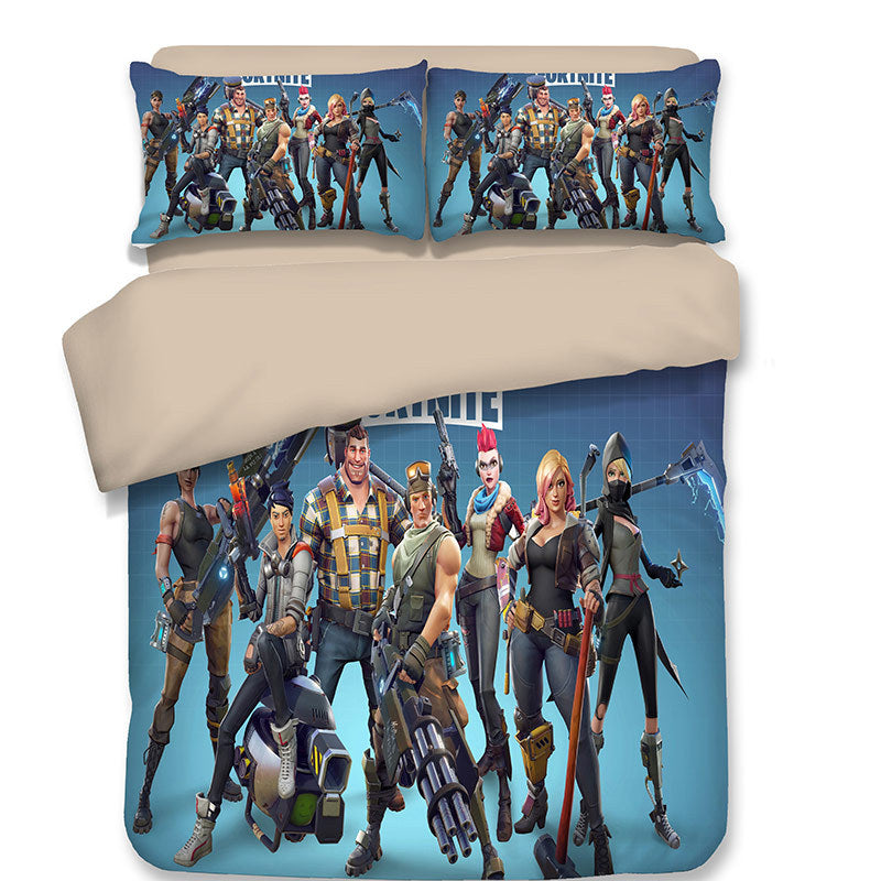 Game Fortnite Battle Royale Characters Skin Bedding Set Duvet Cover Set Bedroom Set