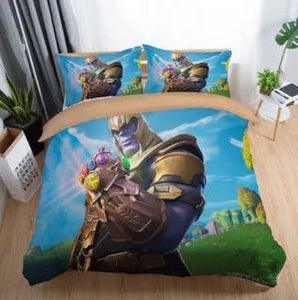 Game Fortnite Battle Royale Thanos Bedding Set Duvet Cover Set Bedroom Set