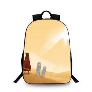 Game Journey Mountain Pattern Backpack Schoolbag Bag