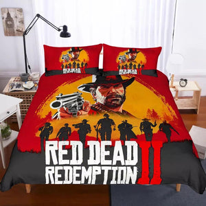 Game Red Dead Redemption Bedding Set Duvet Cover Set Bedroom Set Bedlinen 3D Printing Bag Game Skin Xbox
