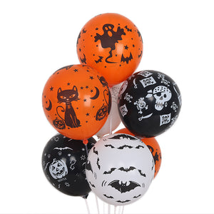 Halloween 12in Latex Balloons Party Decoration 25 Pcs