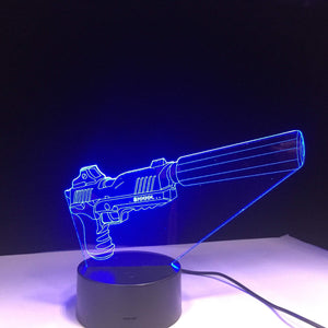 Suppressed Pistol - Battle Royale Gaming Hologram Decoration
