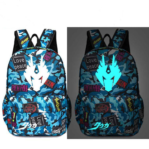 Kids Backpack Daypack Masked Rider Kamen RiderSchool Backpack Glow In The Dark Bag