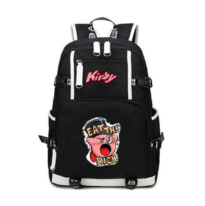 Kirby Eat The Rich Backpack Schoolbag For Kids Back to School Shoulder Daypack Bag