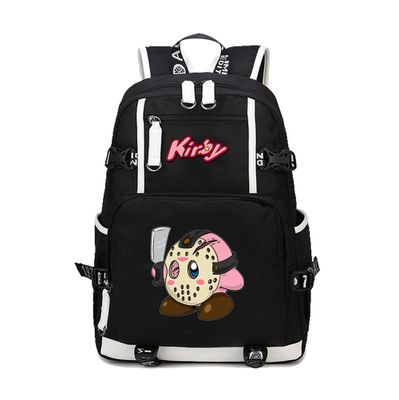 Kirby Mask Killer Backpack Schoolbag For Kids Back to School Shoulder Daypack Bag