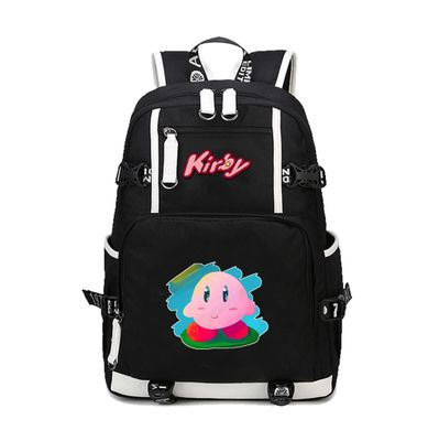Kirby Paint Backpack Schoolbag For Kids Back to School Bags Shoulder Daypack
