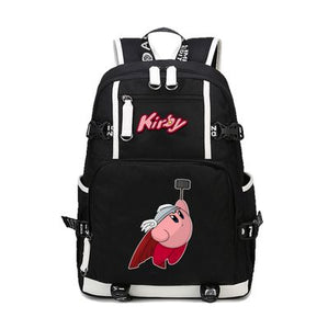 Kirby Thor Pattern Backpack Schoolbag For Kids Back to School Shoulder Daypack Bag