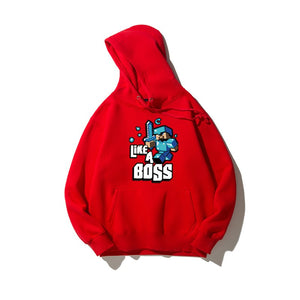 Like A Boss - Premium Minecraft Cotton Hoodie