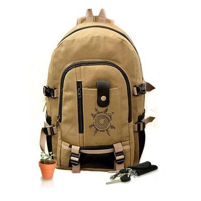 Naruto Hokage Sun Logo Backpack Schoolbag For Kids Back to School Bags