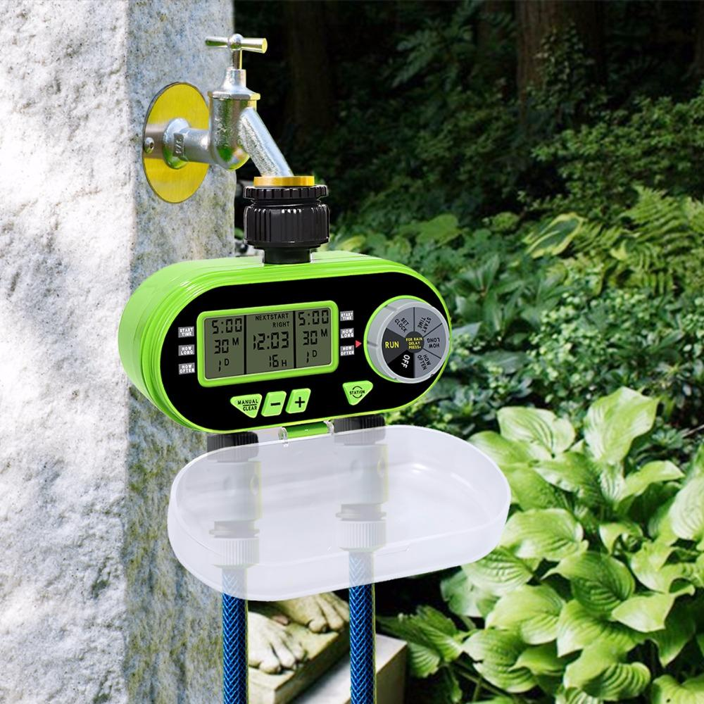 Digital 2 Zone Electronic Garden Water Timer and Controller