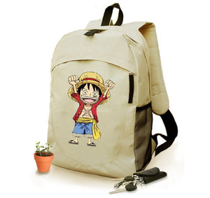 One PieceLuffy Straw Hat Backpack Oxford Schoolbag For Kids Back to School Bags
