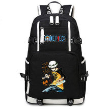 One Piece Theme Fighting Anime Series Backpack Schoolbag Daypack Trafalgar Law Bag