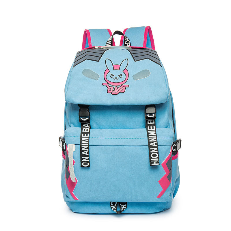 Overwatch Theme Tough Series Backpack Schoolbag Daypack Bookbag Diva Bag