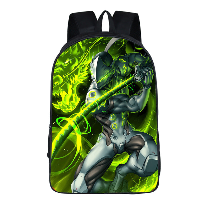 Overwatch Theme Unique Series Backpack Daypack Schoolbag Genji Two Bag