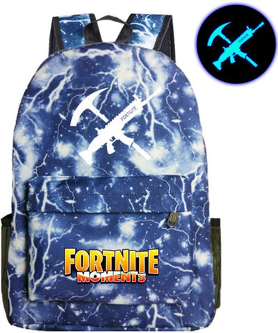 Fortnite Fluorescent Backpack Fashion SchoolBag Student Notebook Daily Backpack