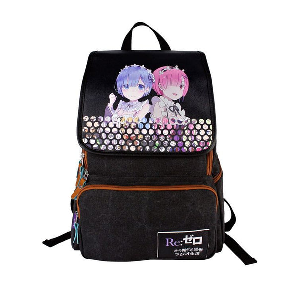 RE ZERO - Starting Life in Another World Backpack Schoolbag For Kids Daypack Bag