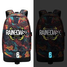 Rainbow Six Siege Backpack Luminous Series Red Schoolbag Pattern F Bag