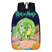 Rick And Morty Theme Backpack Daypack Schoolbag Hole Scene Bag