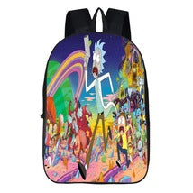 Rick And Morty Theme Backpack Daypack Schoolbag Run Scene Bag