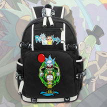 Rick And Morty Unique Series Backpack Daypack Crown Bag
