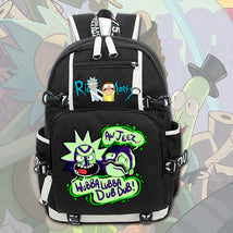 Rick And Morty Unique Series Backpack Daypack Shock Bag