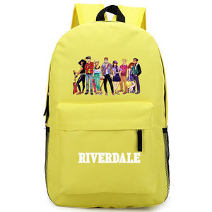 Riverdale All Character Comic Pattern Riverdale Logo Archie Yellow Backpack Schoolbag Bag