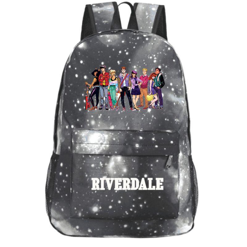 Riverdale All Character Comic Pattern White Galaxy Shoulder Backpack Schoolbag Bag