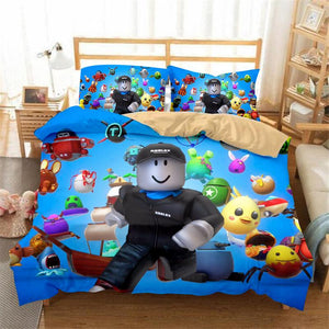 Roblox Duvet Quilt Cover Bedding Set With Pillow Cases