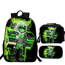 Roblox Backpack August Package Series Lunch Box Pen Case Walk Green Man Bag