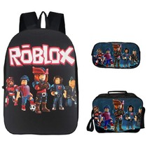 Roblox Backpack Package Series Schoolbag Lunch Box Pen Case Team