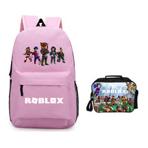 Roblox Backpack Package Summer Series Lunch Box Pink Schoolbag Daypack
