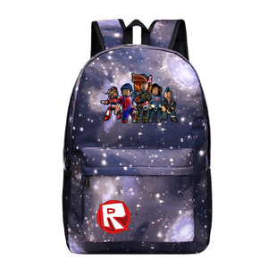 Roblox Red Nose Day Roblox All Character Logo Purple Galaxy Backpack  Schoolbag For Kids Bag