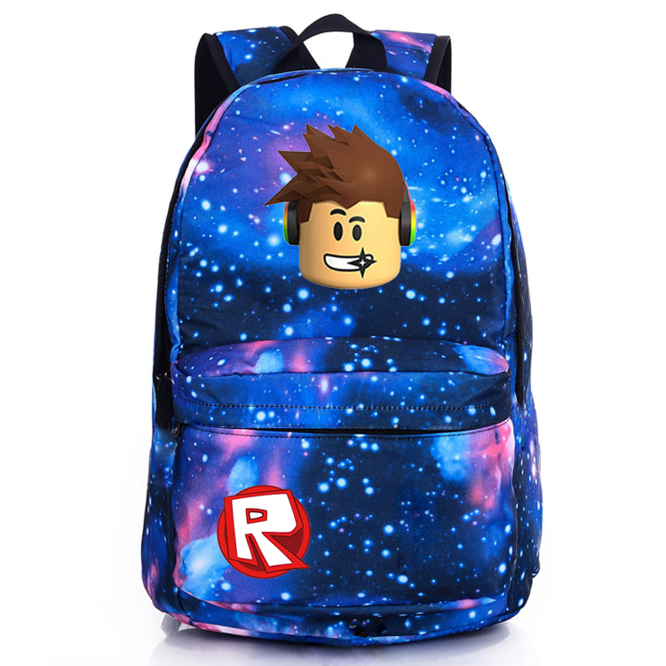 Roblox Red Nose Day Roblox Character Avatar Galaxy Backpack Schoolbag For Kids Bag