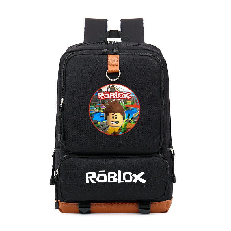 Roblox Logo Red And Black Roblox Red Nose Day Roblox Colorful Logo Pattern Black Backpack School Nothingbutgalaxy
