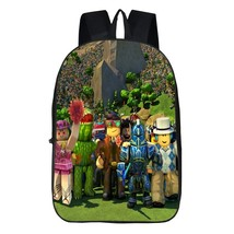 Roblox Theme Backpack Schoolbag Daypack Bookbag Group Bag
