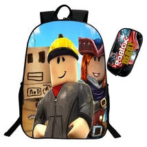 Roblox Theme Backpack Schoolbag Daypack Worker With Pencil Case Bag