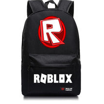 Roblox Theme Extra Series Black Backpack Daypack Schoolbag R Logo Bag